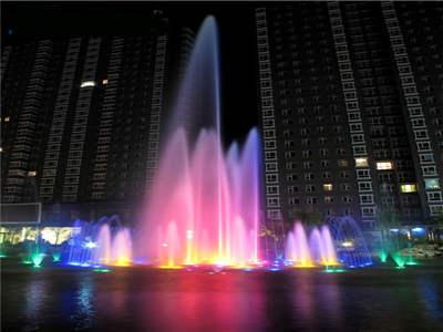 新疆和丰县江格尔宫水景音乐喷泉控制系统